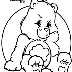 coloring pages of grumpy bear - photo#16