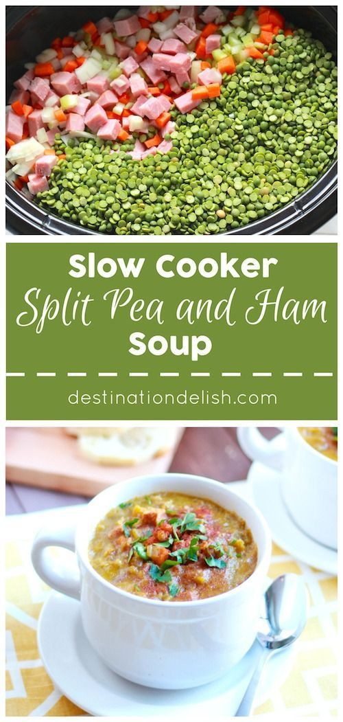 Slow Cooker Split Pea and Ham Soup (scheduled via http://www.tailwindapp.com?utm_source=pinterest&utm_medium=twpin&utm_content=post1012101&utm_campaign=scheduler_attribution)