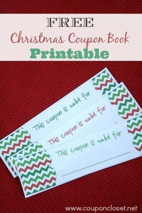 Free Christmas Coupon Book Printable Homemade Christmas Coupons