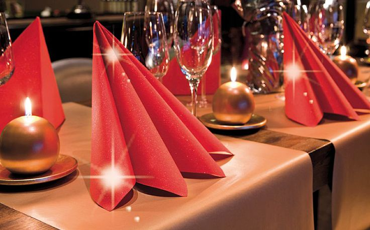 Christmas napkins with a brilliance touch - Duni