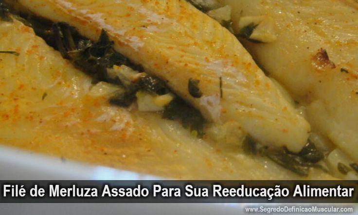 Filé de Merluza Assado Para Sua Reeducação Alimentar → http://www.segredodefinicaomuscular.com/file-de-merluza-assado-para-sua-reeducacao-alimentar/ #Dieta