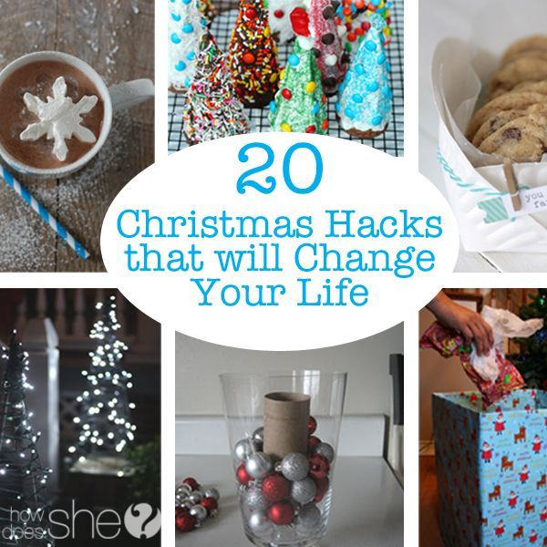 So the other day I was talking to my friend and she was telling me how she has a wrapping paper station all set up in her basement.  She's organized and can easily get her presents wrapped and ready to go.  This got me thinking what other Christmas Hacks are out there…  so here's 20 …