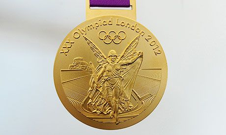 The gold medals for the 2012 summer games are the largest and most valuable ever given out. They are 3.5 inches in diameter and weigh 14.1 ounces – 1.2 percent of which will be actual gold.