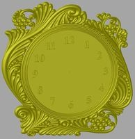 Clock 3d model relief for cnc in STL file format Picture STL_1346