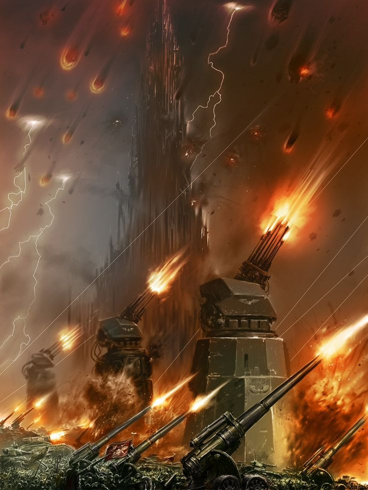 """40K """"Mycetic Spores from Hive Fleet Jormagundr rain down on the homeworld of the Crimson Castellans Chapter of Space Marines """""""