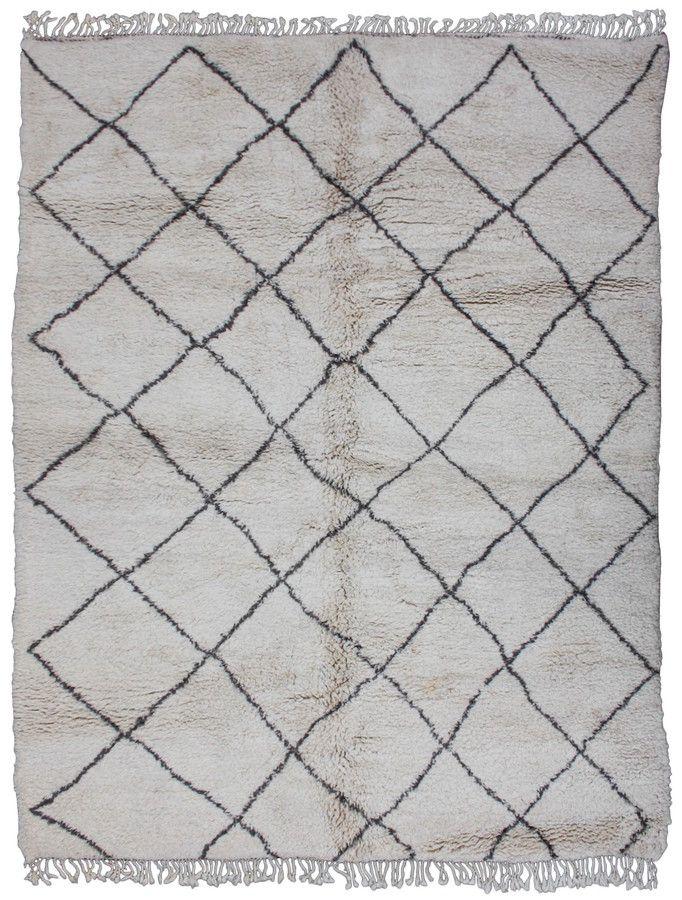 Moroccan Beni Ourain Rug, 13' x 8'1''