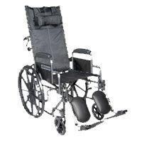 Drive Sport Full Reclining Wheelchair,Each,SSP16RBDDA Price: 309.99 Retail Price: 495.00 Health Products For You DRIVE MEDICAL Exercise & Mobility > Wheelchair > Manual Wheelchairs > Lightweight Chairs