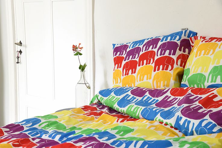 The march of the rainbow elephants.