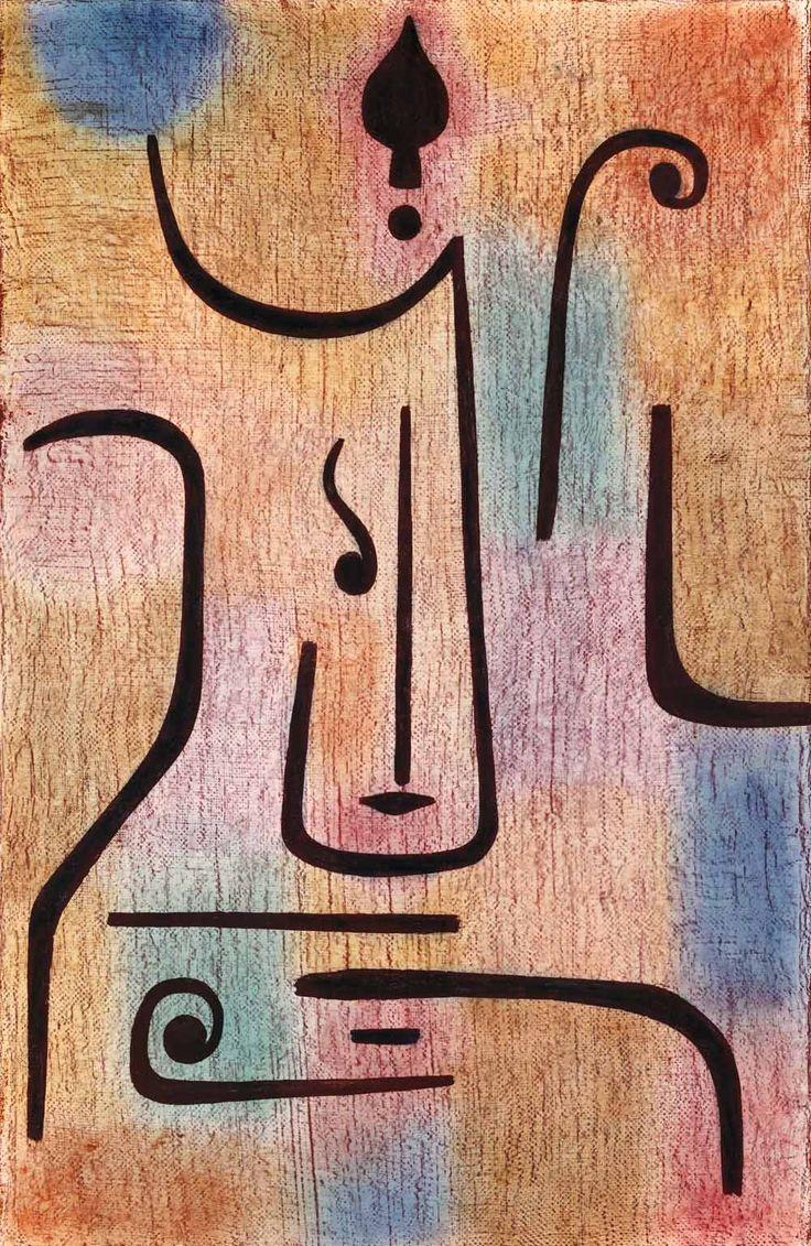 Paul Klee, Erzengel / Archange, 1938 - Huile et couleur à la colle sur coton sur toile de jute sur châssis à clés - 100 x 65,5 cm // Le thème des anges caractérise surtout l'oeuvre tardif de Klee.