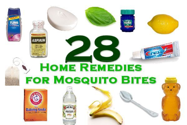 28 Home Remedies for Mosquito Bites - they're so bad on me that I'll try just about anything!