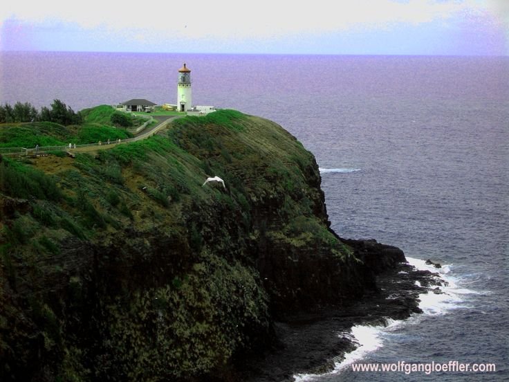 Kilauea Lighthouse an der Nordküste Kauai's