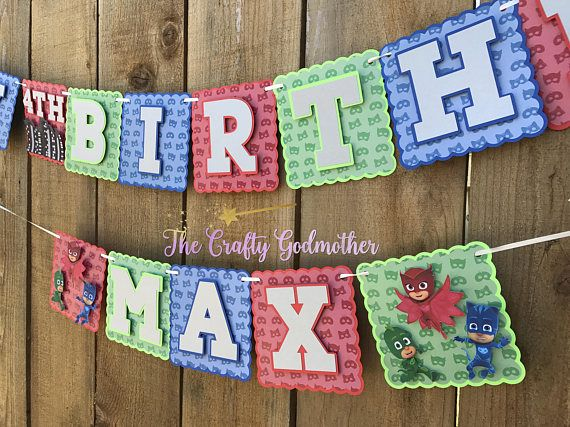 Disney Jr PJ Masks Happy Birthday Party Banner