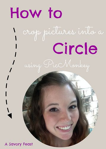 How to Crop a Picture into a Circle using PicMonkey