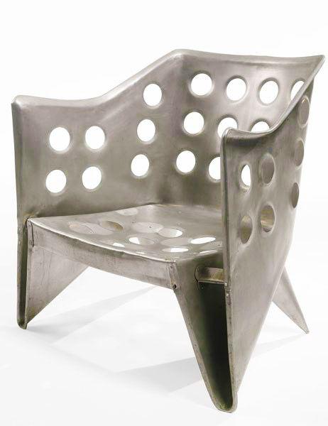 Gerrit Rietveld - Aluminium Chair (De Stijl)(1942)