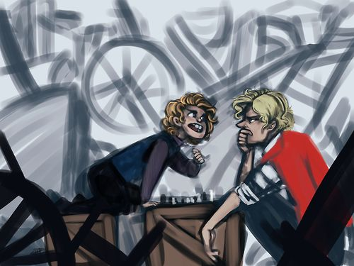 """Ya know, I don't really think you understand how this works"" -In which Gavroche and Enjolras play chess and Gavroche always wins because Enjolras keeps sacrificing his king <= pinning because of comment"