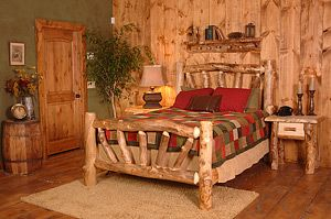 This wonderful Hobble Creek Bed will adorn any bedroom with rustic elegance for years to come.  Its simple yet charming Aspen glow subtly blends with any decor.  The Hobble Creek Bed is available in all sizes ranging from Twin to California King, and several additional add-on options are also available for this truly unique bed. To complete a bedroom set please see the 'We Also Suggest' category below.