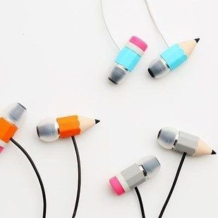 These pencil EARBUDS ($29). | 27 Deceptively Bad Gifts That'll Surprise Your Friends