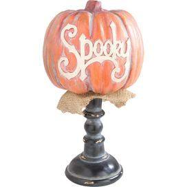 Spooky Pumpkin Decor in Orange