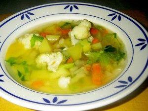 Květáková polévka podle babičky
