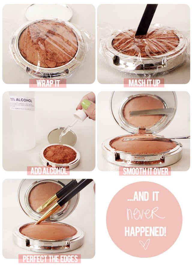 S.O.S. Qué hacer con un maquillaje roto. http://ohmundocruel.com.mx/2012/06/s-o-s-que-hacer-con-un-maquillaje-roto/#