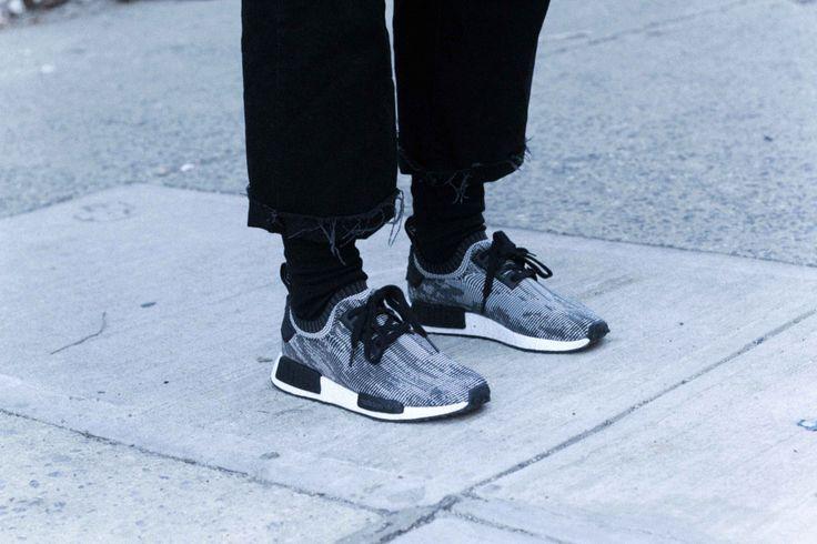 J'aime tout chez toi - Grey Adidas NMD sneakers