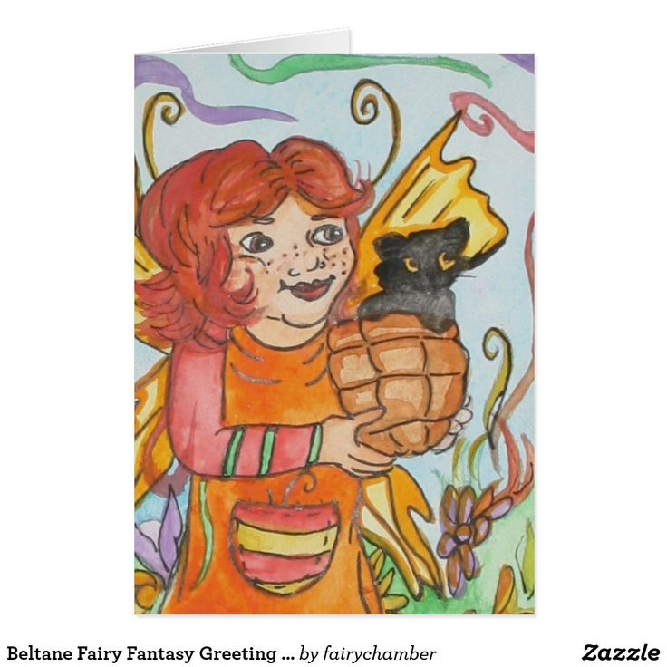 Beltane Fairy Fantasy Greeting Card