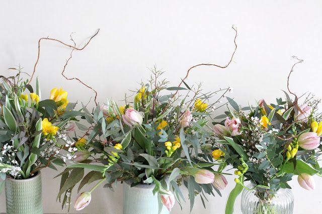 Bouquets champêtres pour notre clientèle professionnelle Livraison fleurs Lyon www.lapetiteboutiquedefleurs.fr