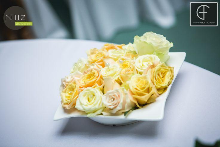 Rózsákból gyűrűpárna