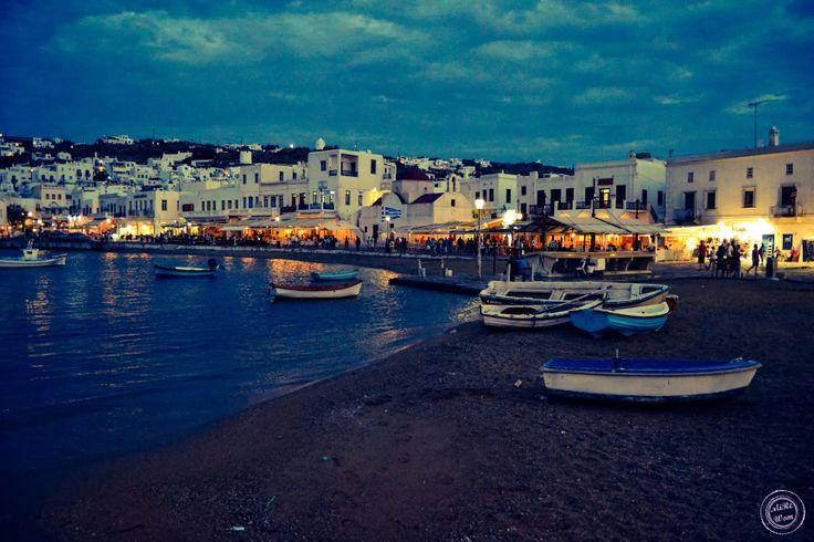 www.mirewom.wordpress.com puerto de Mykonos Grecia #Travel #Mirewom