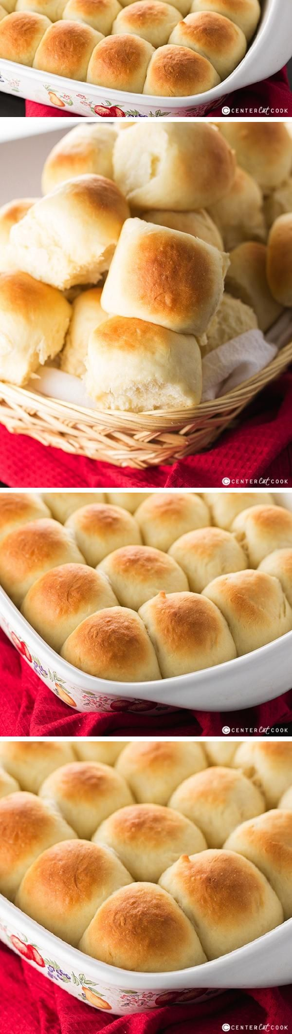 Fast and Easy Dinner Rolls made from scratch! No bread machine required! Fresh and warm, right out of the oven, these basic homemade dinner rolls are irresistable!