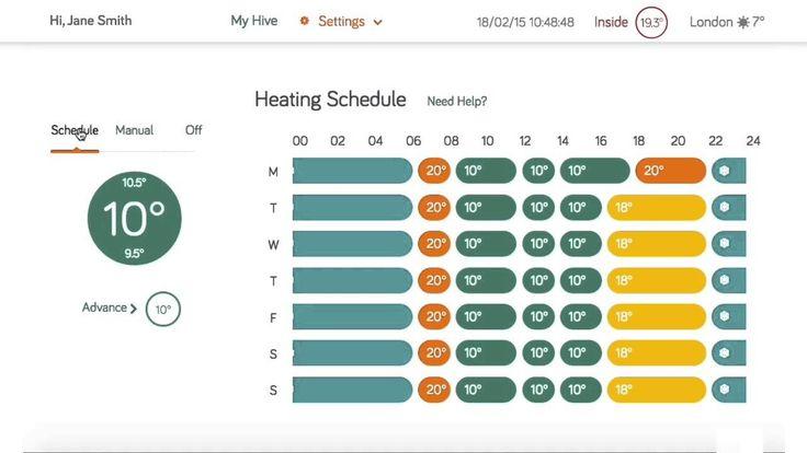 Hive - Website Dashboard Walkthrough - Heating Only