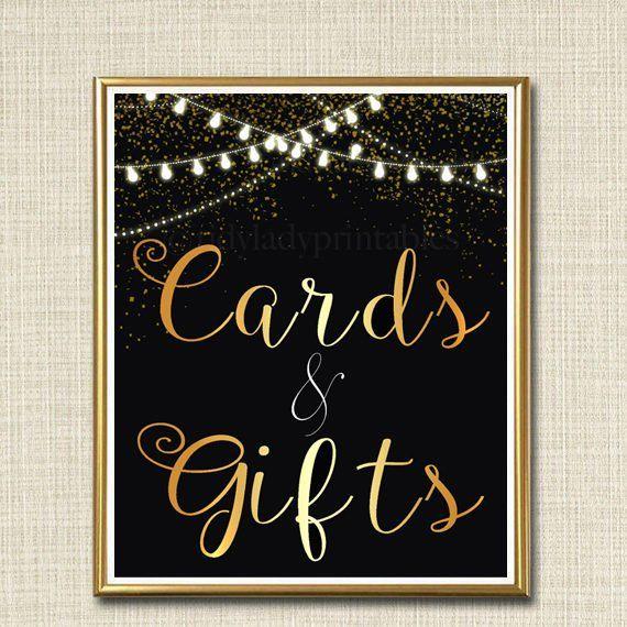 Karten u. Geschenk-Zeichen, Schwarzweiss-Party-Dekor, Abschlussfeier, Geburtstagsfeier, Wedding Decoratio