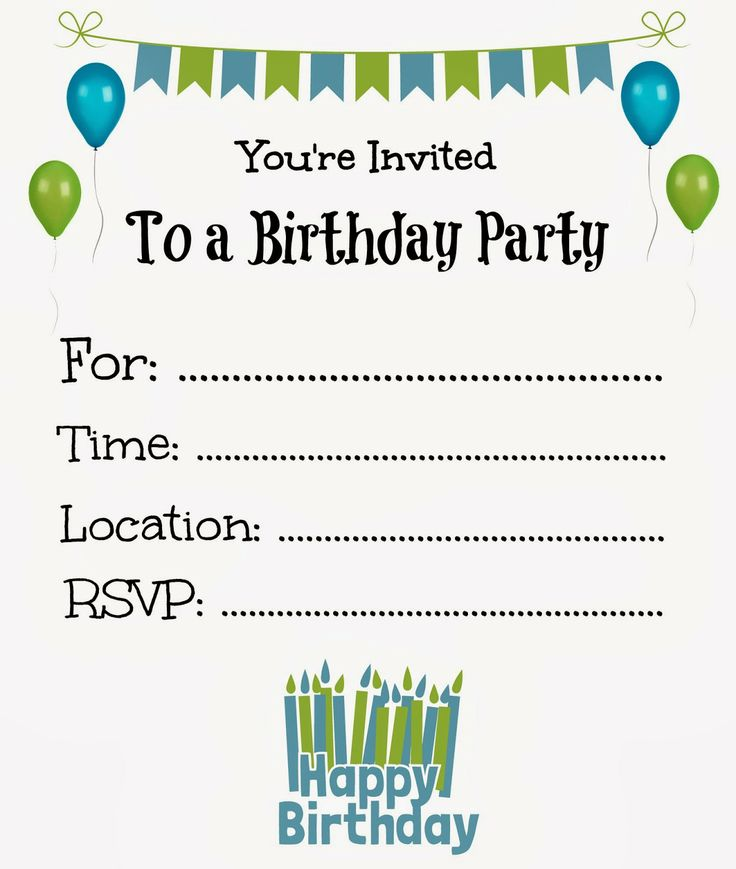 34 best Party Invites images on Pinterest | Birthdays, Invitations ...