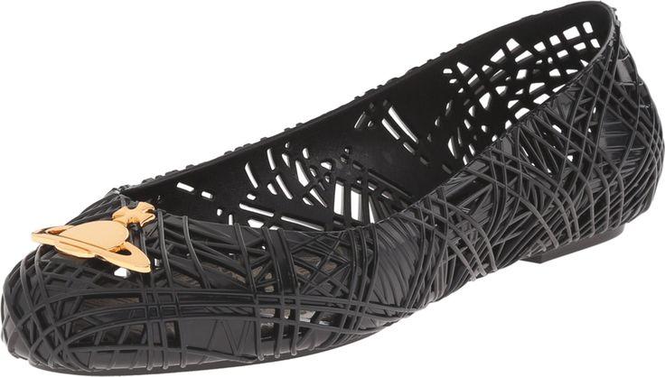Vivienne Westwood Women's Anglomania + Melissa Scribble Tartan Black/Gold Flat 5 B (M). Vivienne Westwood. VW Scribble Black. VW Orb. Flat Shoe.