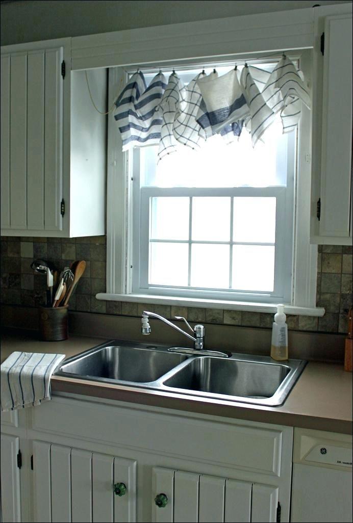 small kitchen window dressing ideas