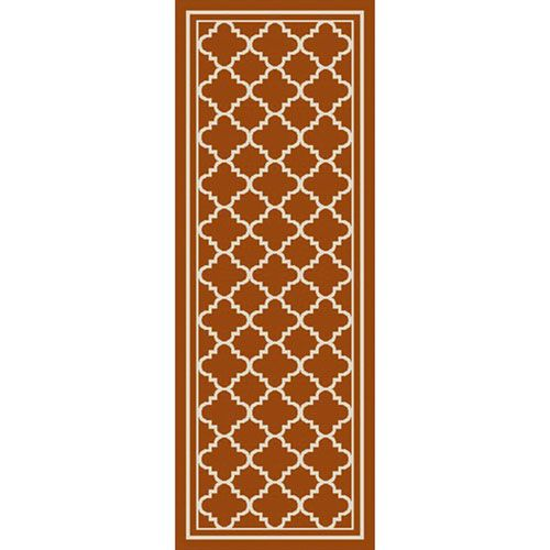 Marina Rust and Ivory Runner: 2 Ft 7 In x 7 Ft 3 In Rug - (In Runner)