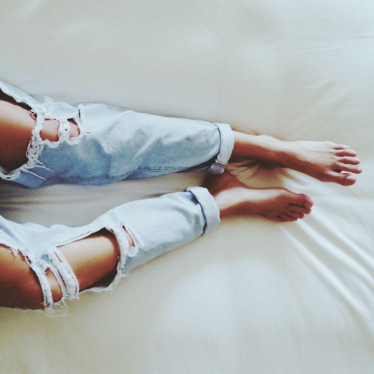 Mornings in ripped jeans Miann Scanlan