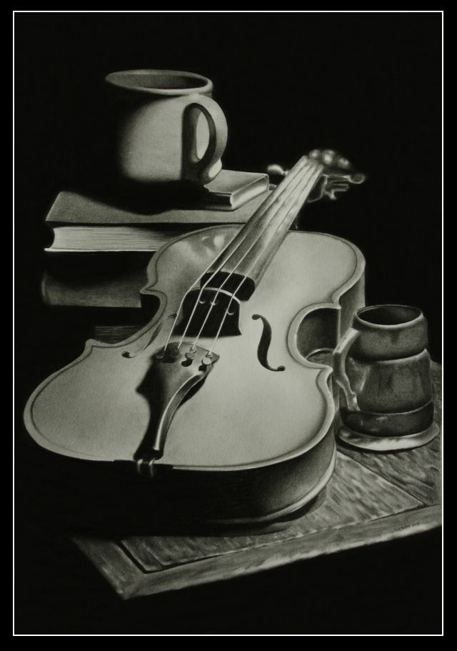Realism pencil drawing-Still life by *JosefUnucka Inspiration