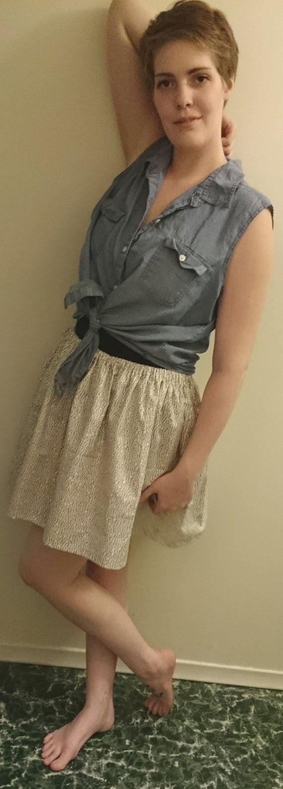 "Alphabets On My Skirt Cotton Elastic Waistband Skirt - $20.00 100% Cotton Fits waists - 30""-38"""