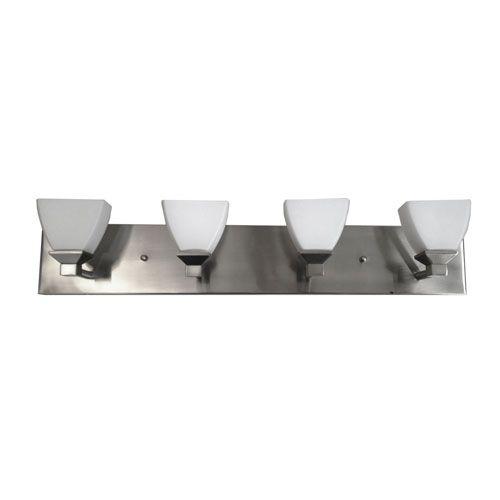 Baltimore Four-Light Brushed Nickel Bathroom Fixture