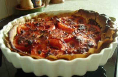 Image de la recette Tarte a la moutarde et tomates