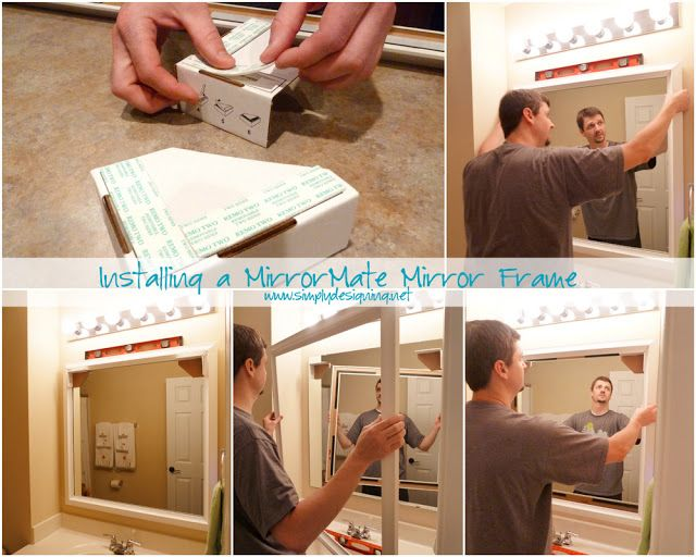 Bathroom Mirror Installation 11 best frames for existing mirrors images on pinterest | bathroom