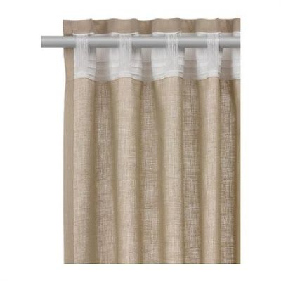 Top 25 ideas about white linen curtains on pinterest for Ikea drapes linen