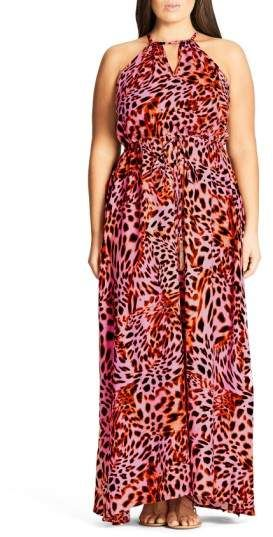 City Chic Leopard Drawstring Waist Maxi Dress - Plus Size Fashion for Women - Ad #summeroutfits