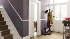 Use a deep shade of purple to enhance a grand entrance hall.