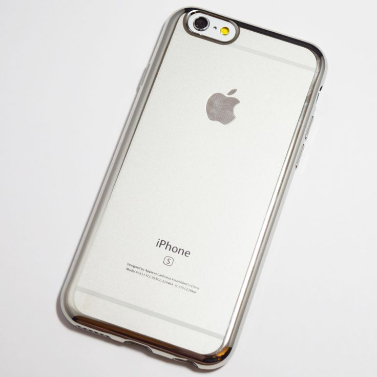 Silver Chrome Framed iPhone 6 Plus / iPhone 6S Plus Soft Case