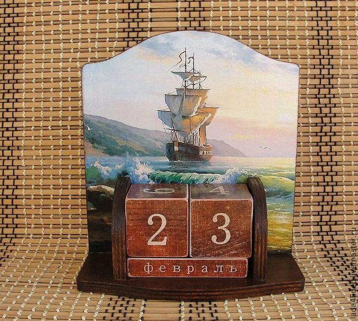 Купить Вечный календарь в ассортименте - коричневый, вечный календарь, календарь ручной работы, календарь