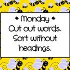Pictures Words Their Way Worksheets - Studioxcess