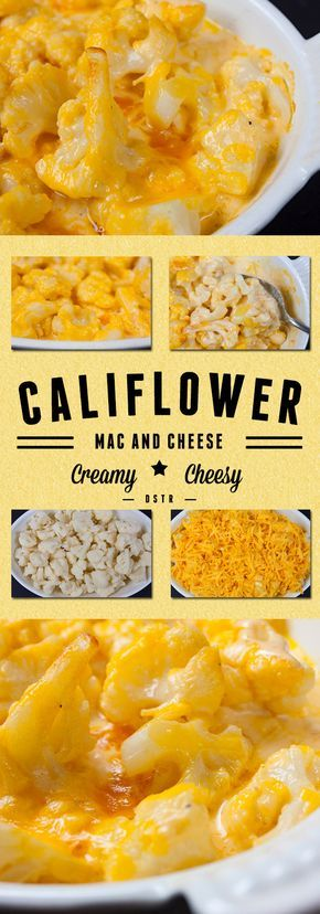 Cauliflower Mac and Cheese - Low carb, keto, creamy, cheesy and decadent! You dont need the pasta!