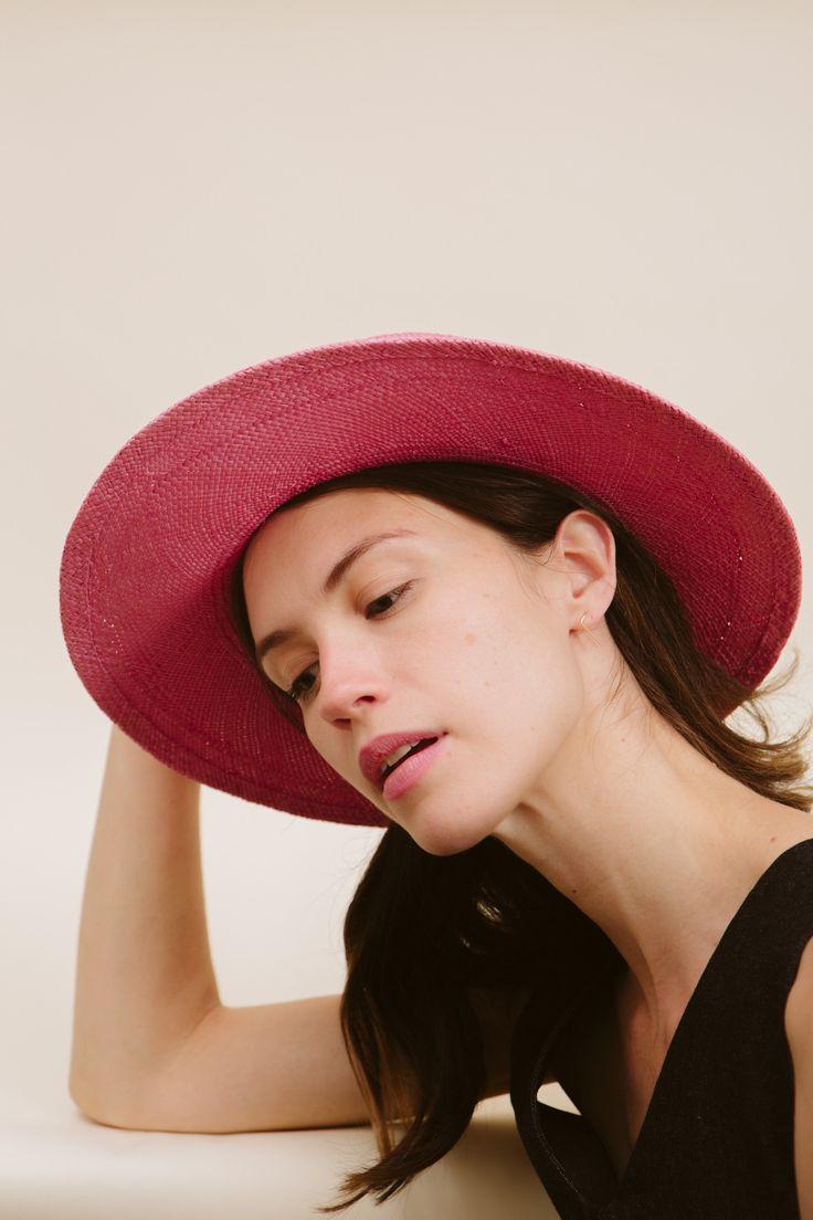 Goodwin | Straw Painter Hat—Desert Pink